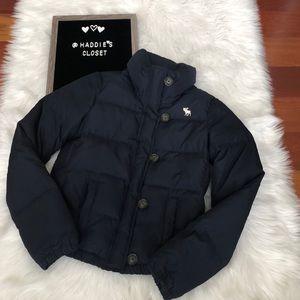 Boys XL Abercrombie puffer jacket Navy